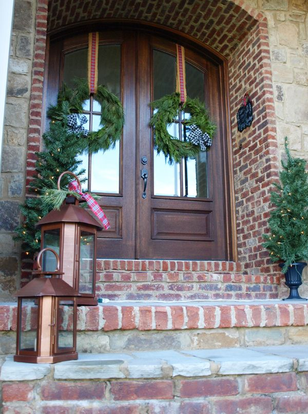 Christmas wreaths for double doors