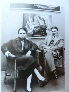 Toyen with Styrsky in a Galery