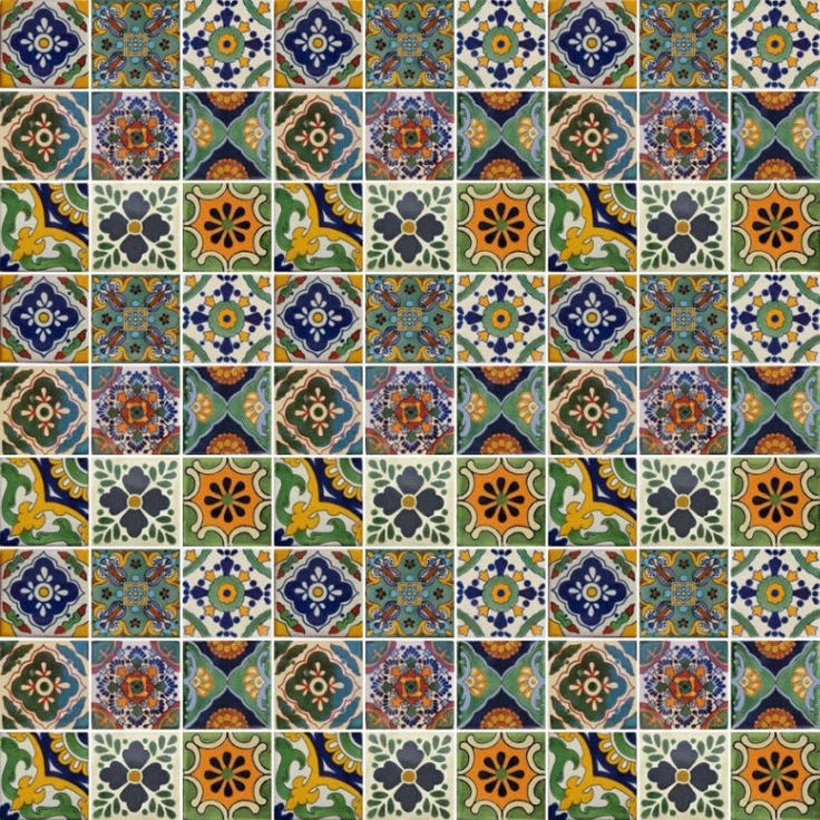Mixed Set 3.   Gorgeous Mexican mixed set of tiles from Old World Tiles oldworldtiles.com.au