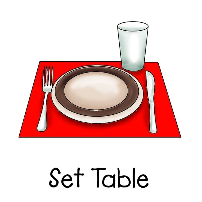 Image result for set table clipart