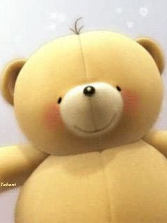 Kisses for you! animated hugs hello friend teddy bear comment good morning good day greeting beautiful day