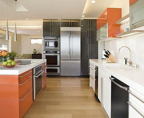Modernize Your Modern Kitchen with Gorgeous Black and Orange Furniture