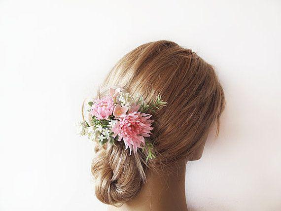 Wedding  Flower Hair Combs  Wedding Hair Accessories  by ADbrdal, $22.00 #bride #wedding #weddingaccessory #weddinghair #weddingveil