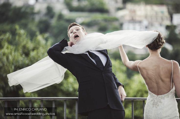 fun wedding photos in Ravello Amalfi Coast Italy wedding planner Mario Capuano professional wedding photographer Enrico Capuano