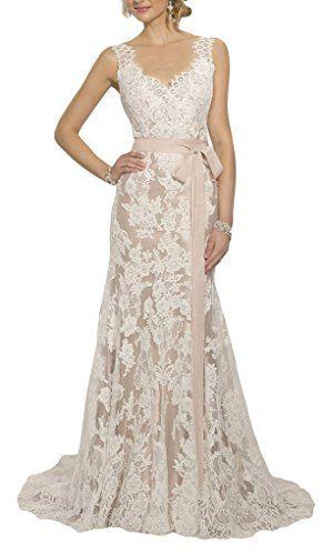 Wallbridal Open Back Vintage Lace Wedding Dress Sweep Train Sash Bridal Gown (2, Champagne) Wallbridal http://www.amazon.com/dp/B0197ONBV4/ref=cm_sw_r_pi_dp_I.H7wb076YYWC
