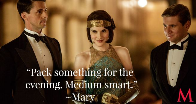 """Downton Abbey Season 6 Episode 6 .. Matthew Goode, Michelle Dockery and Allen LeechHenry Talbot hardly stands a chance against Lady Mary's flawless """"medium smart."""" Does he have what it takes to handle full chic?.."""