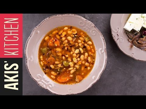 Greek white bean soup-Fasolada | Akis Petretzikis