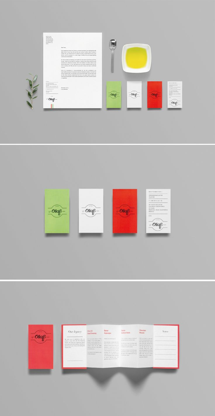"Olaf of Anagrama The naming came from research on the etymological origins of the word ""olive"" and playing with phonetics to give the brand a feeling of family and heritage. This proposal takes typical Italian visual clichés and simplifies and refreshes them."