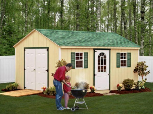 17 best ideas about wooden storage sheds on pinterest for Large backyard sheds