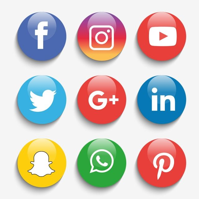 Social Media Icons Set Logo Vector Illustrator Logo Clipart Social Icons Logo Icons Png And Vector With Transparent Background For Free Download Social Media Icons Media Icon Social Icons