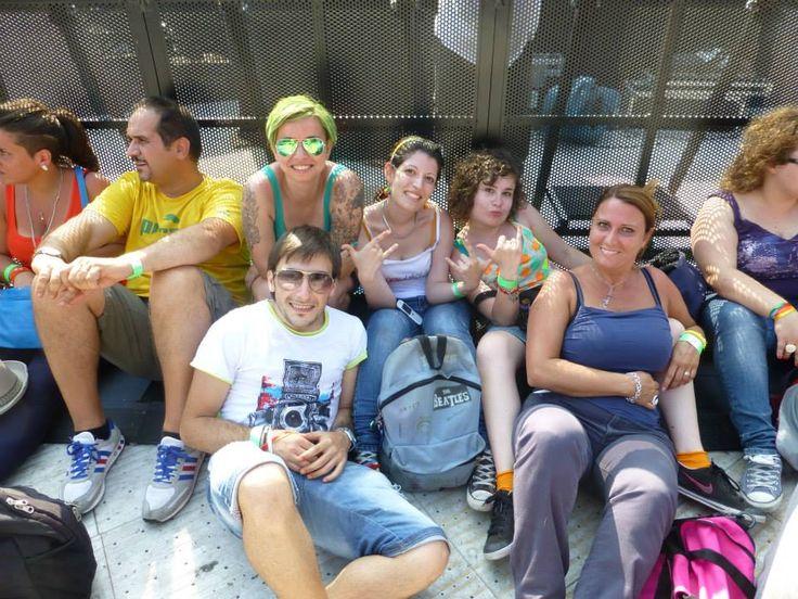 """Dalla transenna del palco """"piccolo"""" (16 luglio 2013 - @negramaro at Stadio Olimpico - Rome ) #negramaroneglistadi #olimpico2013"""