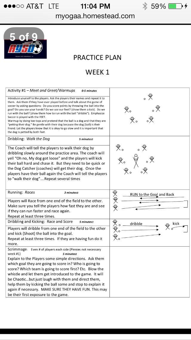 Coaching 3-5 year old soccer  http://myogaa.homestead.com/Micro_soccer_coaches_aid.pdf