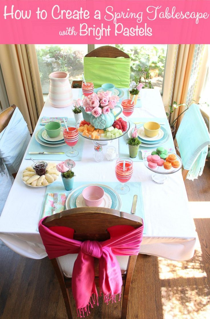 How to Create a Spring Tablescape with Bright Pastels
