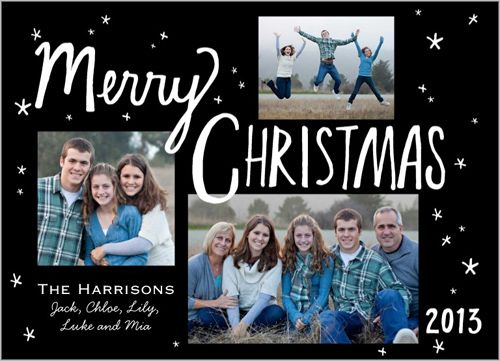 Dance around and celebrate the holidays | Merry Little Stars Christmas Card at Shutterfly.com