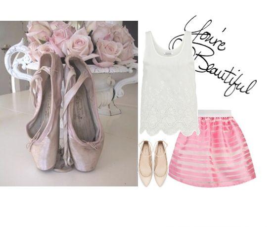 Балетный стиль в одежде, ballet look with skirt