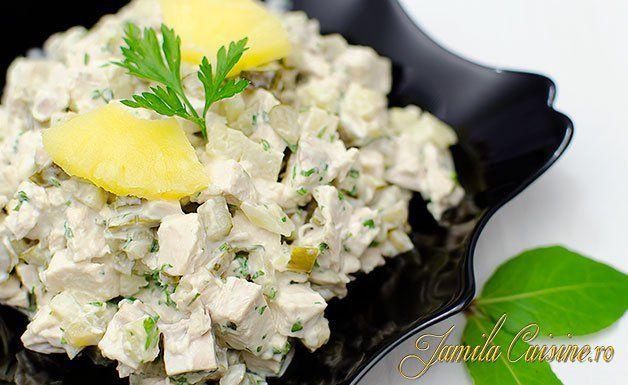 Salata de pui cu ananas – reteta video