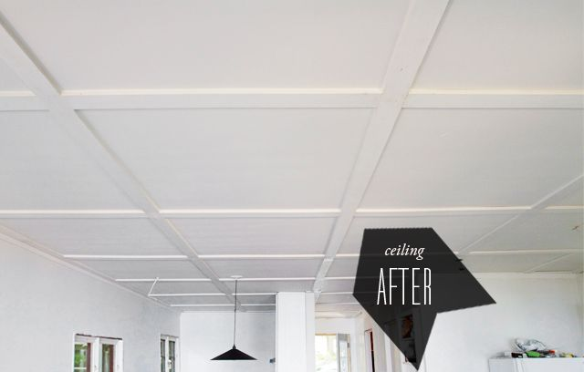 plywood and 1x4's for ceiling. smitten studio