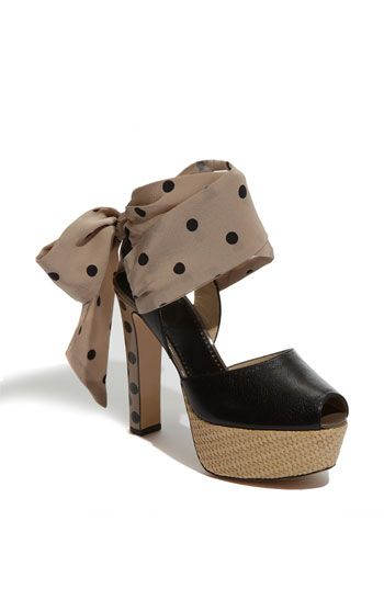 Cheap & Chic Polka Dot Pump. It's chic. But explain to me how they're cheap at 355 dollars on sale.