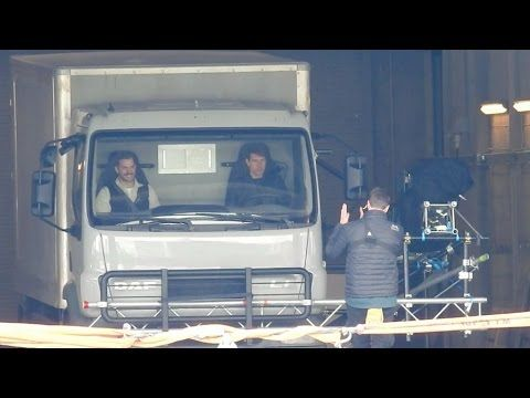 Tom Cruise, Henry Cavill and Christopher McQuarrie on set of Mission Imp...