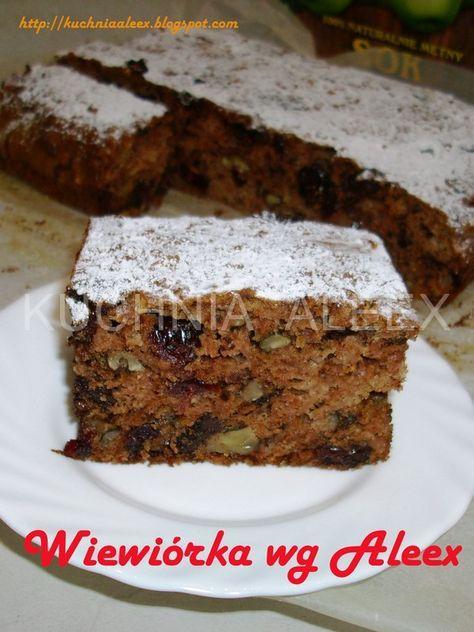 Ciasto wiewiórka z czekoladą, żurawiną, orzechami