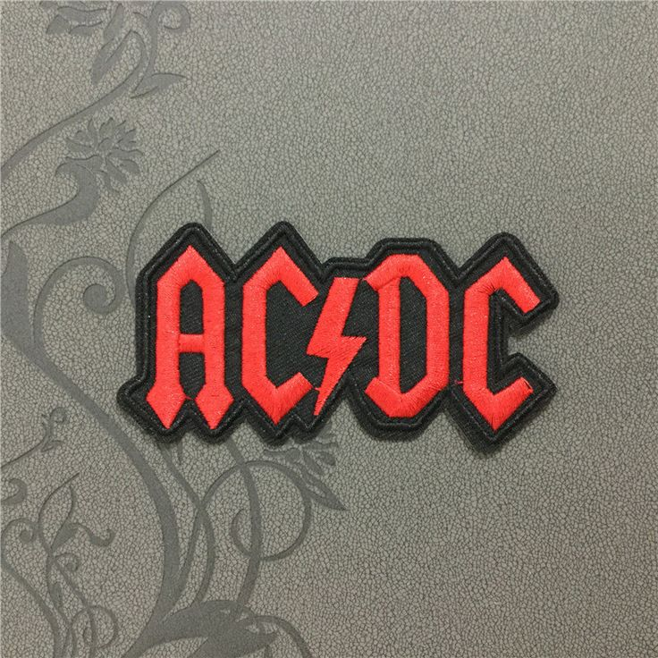 ACDC Band Rock patches iron on monogram punk patches iron on patches