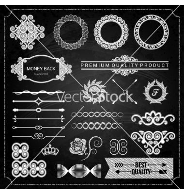 Design elements chalk texture vector by Pushkarevskyy on VectorStock®