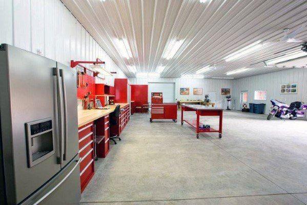 Top 40 Best Garage Ceiling Ideas Automotive Space Interior Designs Garage Decor Morton Building Space Interiors