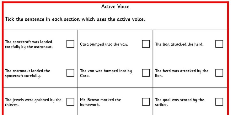 Four differentiated activities practicing specific question types to do with active voice. KS2 SPAG Test Practice.