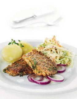 Seibiff med coleslaw | www.greteroede.no | www.greteroede.no