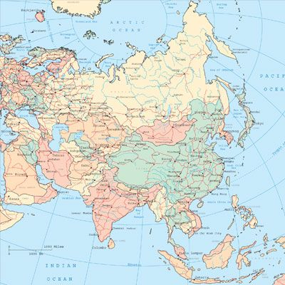 Can you name the countries of Asia?