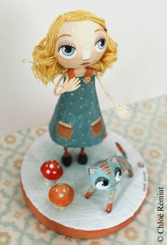 ALICE ET le chat du cheshire #3 2 - Chloé Rémiat, illustratrice jeunesse et sculptrice de papier