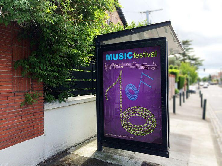 Projekt plakatu na festiwal muzyczny