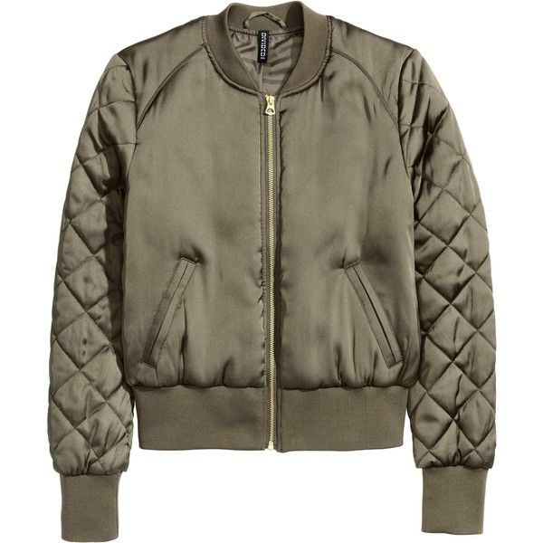 Bomber (2.980 RUB) ❤ liked on Polyvore featuring outerwear, coats, jackets, brown coat, satin coat and bomber coat
