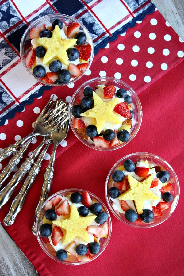 4th of July Fresh Berry Trifles