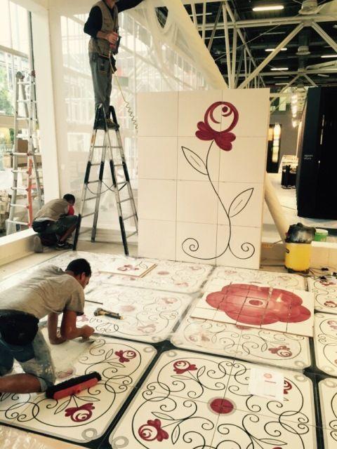 Lo stand Vietri Home Parva Domus Magna Quies al #Cersaie2015 #vietriceramic. Progetto Granese Studio - Architecture & Design di @granesedesign https://www.facebook.com/Vietri-Ceramic-Group-1132337140128573/