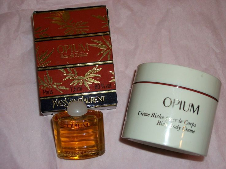 Yves Saint Laurent YSL Opium perfume Body Cream and EDT Handbag Purse Travel Size http://www.bonanza.com/booths/FRAN24112