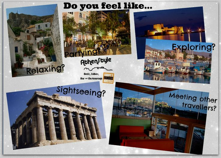 """Welcome to Athens! Europe's historical capital! Are you interested in... -Sightseeing? The centre is full of archaeological sites, in walking distance from our hostel. -Partying? Psirri area, just around the corner, is full of small bars, clubs and traditional greek """"ouzeri"""".  -Relaxing? Go for a walk in the old city, just below the Acropolis.  -Exploring? You can go to an island near Athens or on the mainland, like Nafplio. -Meeting other travellers? Take a look at our famous Rooftop Bar!"""