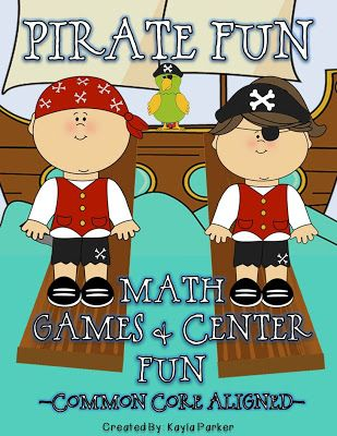 Ahoy Mateys!!! It is time for some pirate fun! Your students will LOVE these 8 pirate themed math games and centers! All of these COMMON CORE ALIGNED (Grade 1 and 2 Operations and Algebraic Thinking, Numbers and Operations in Base Ten, Measurement & Data) activities will keep your students engaged and learning! You might even find yourself wanting to play!