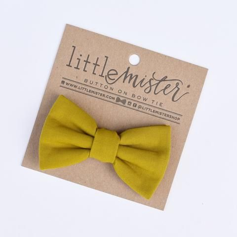 Chartreuse Baby & Toddler Bow Tie