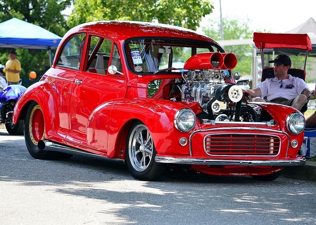 """Morris Minor 1000 pro street. How about I """"transform"""" my little Morrie into this powerhouse?!! :)"""