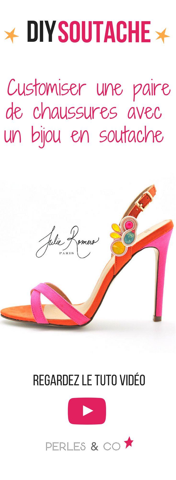 Envie d'avoir une paire de chaussures uniques pour une occasion spéciale comme une soirée ou un mariage ? Pas de problème, voici une astuce DIY pour customiser votre paire d'escarpin préférée en créant un bijou de chaussures avec de la soutache et des cristaux Swarovski. #diy #soutache #customisation #chaussures #mariage #tutoriel #été #tuto #accessoire #wedding