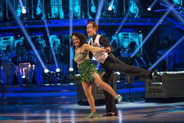 SCD week 4, 2016. Lesley Joseph & Anton du Beke. Charleston. Credit: BBC/Guy Levy