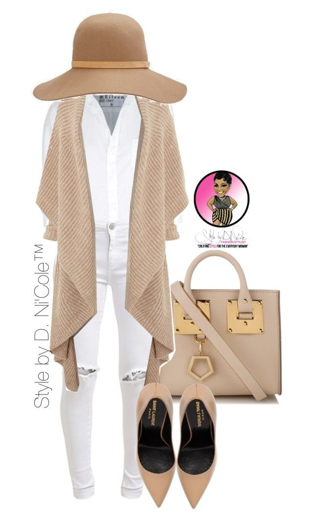 Untitled #2816 by stylebydnicole on Polyvore featuring polyvore, fashion, style, Crea Concept, Frank & Eileen, FiveUnits, Yves Saint Laurent, Sophie Hulme and rag & bone