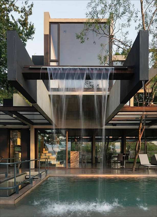 Home Design Interior Inspiration Modern In Tropical Forest In 2020 House Exterior Architecture House House Architecture Design
