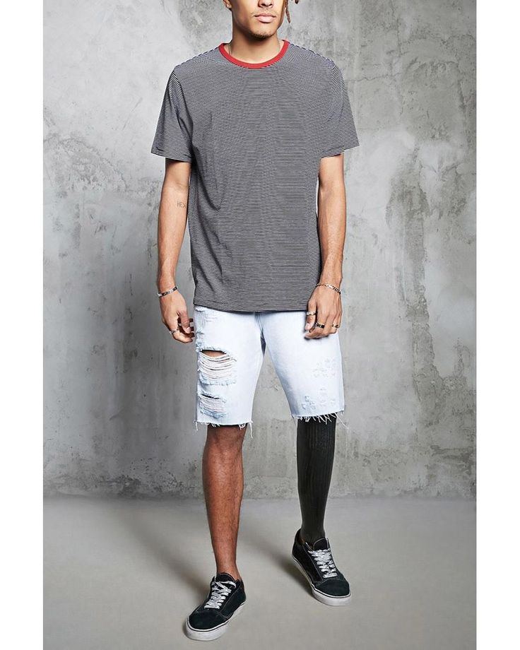 Buy Forever 21 Men's Gray Contrast Crew Neck Tee, starting at $10. Similar products also available. SALE now on!