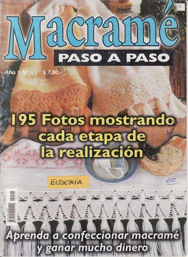 MACRAME - PASO A PASO 2005 - NUM.1 - carmen rodriguez la rubia - Álbumes web de Picasa