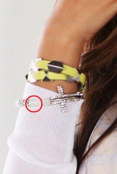 Rhinestone Cross Beaded Bracelet from en.aura-j.kr // $6.30