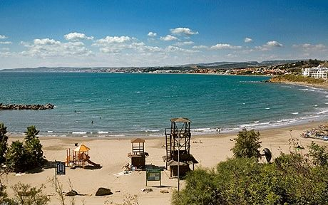 The beach at Estepona, on Spain's Costa del Sol, is known as El Cristo and its   shallow waters makes it popular with families.