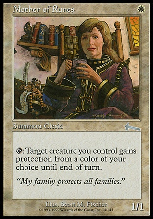 Read about Mother of Runes here http://www.examiner.com/article/mother-of-runes-protects-your-creatures #mtg #magic #magicthegathering #games #geek #cardgames #videogames #Urza'sLegacy #mother #mothersday #Mother'sDay #mom #article #examinercom