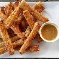 Appelflap frieten met karamel dip : Recepten van Domy